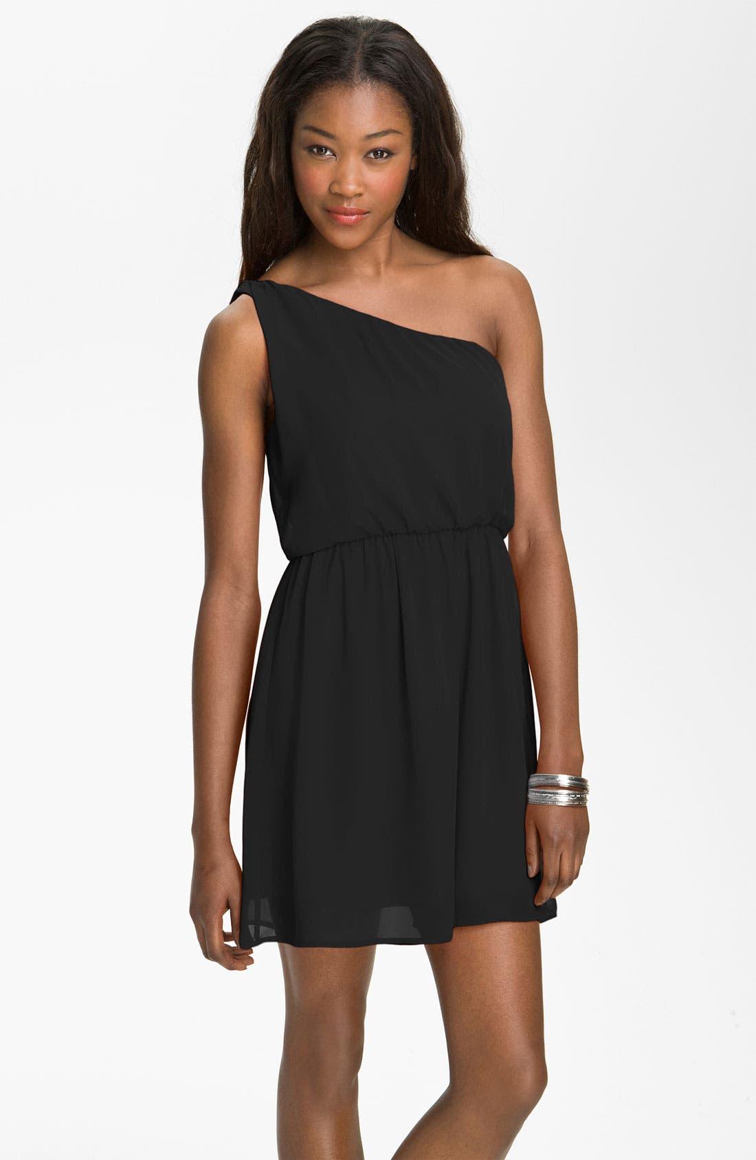 Alternate Image 1 Selected - Lush 'Caroline' One Shoulder Dress (Juniors)
