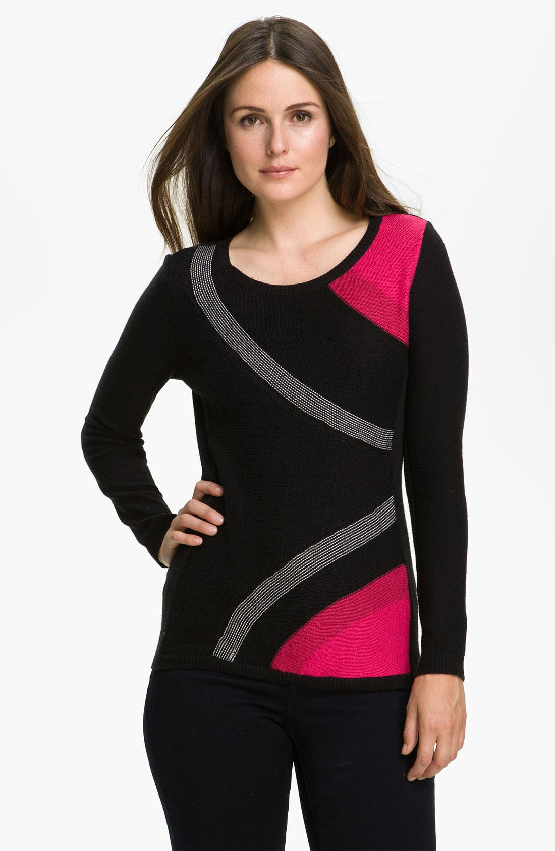 Alternate Image 1 Selected - Nic + Zoe Colorblock Sweater