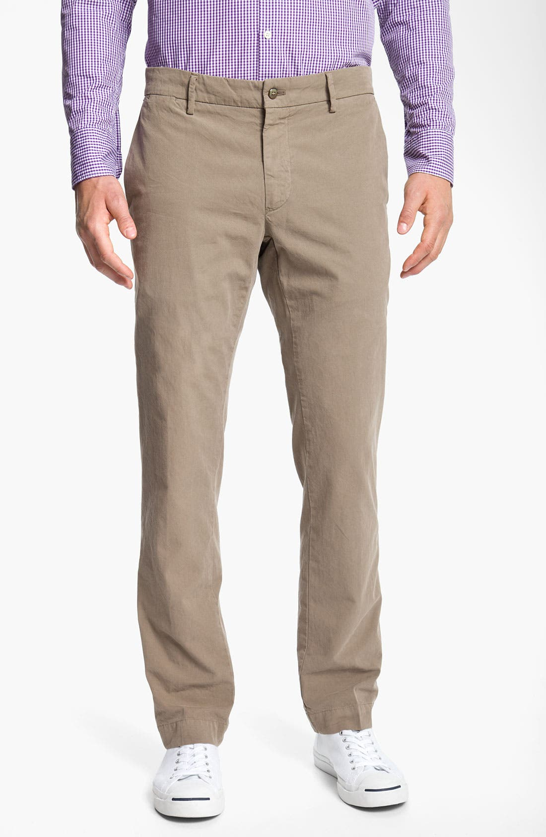 Main Image - Mason's Flat Front Slim Leg Cotton Pants