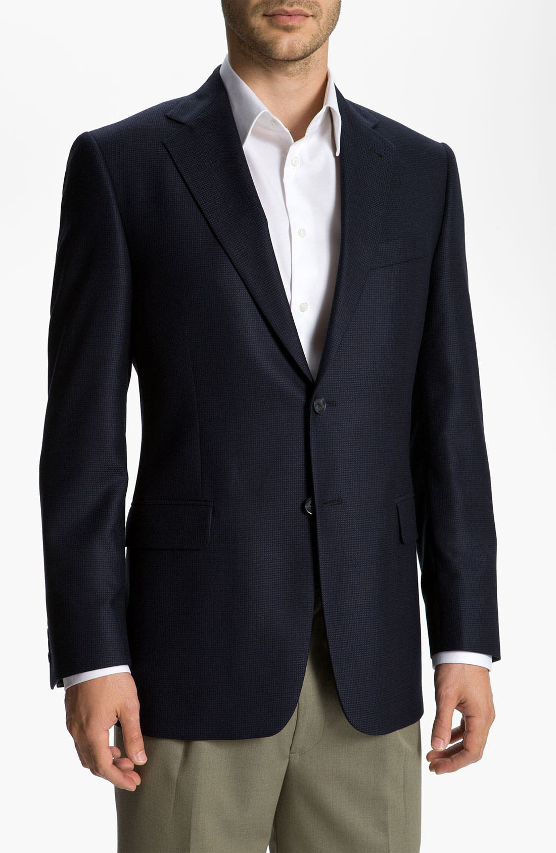 Main Image - Joseph Abboud 'Signature Silver' Houndstooth Blazer