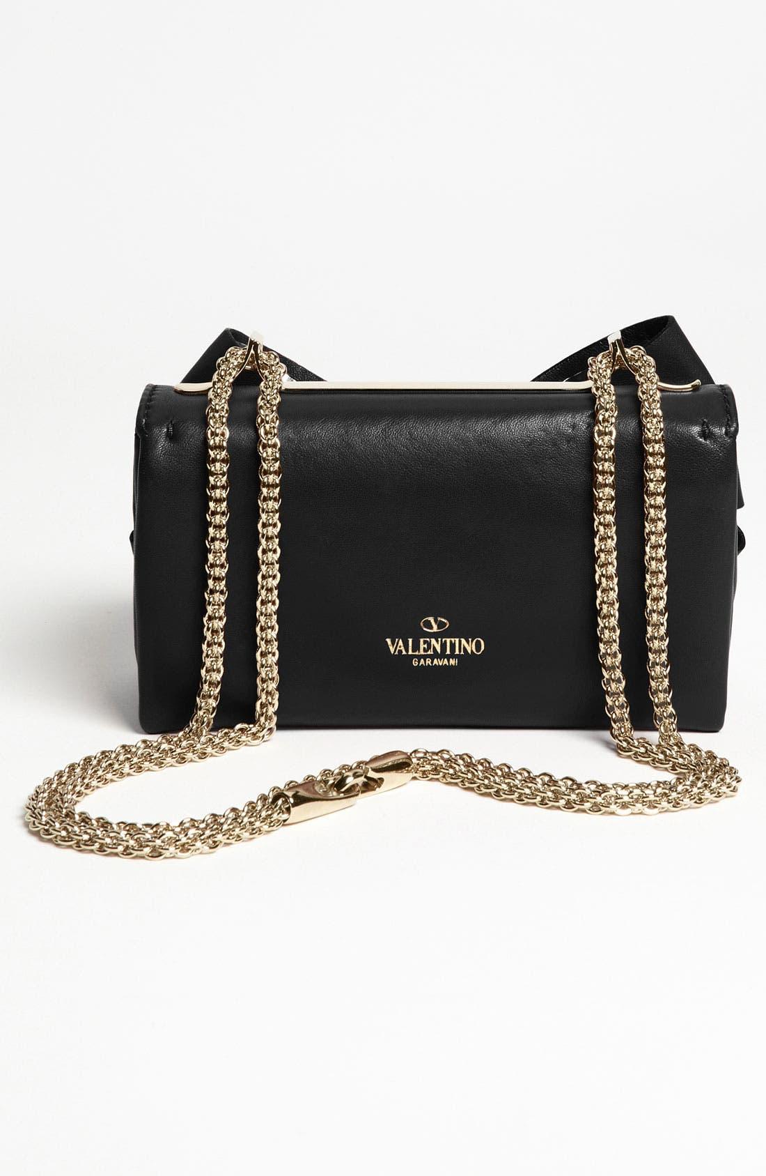 Alternate Image 4  - Valentino 'Bow - Mini' Leather Shoulder Bag