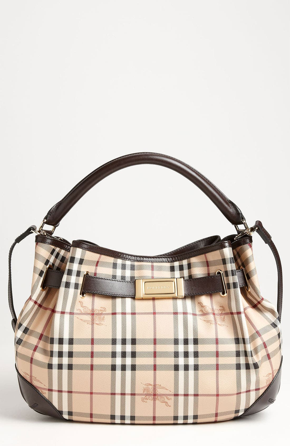 Main Image - Burberry 'Haymarket Check' Hobo