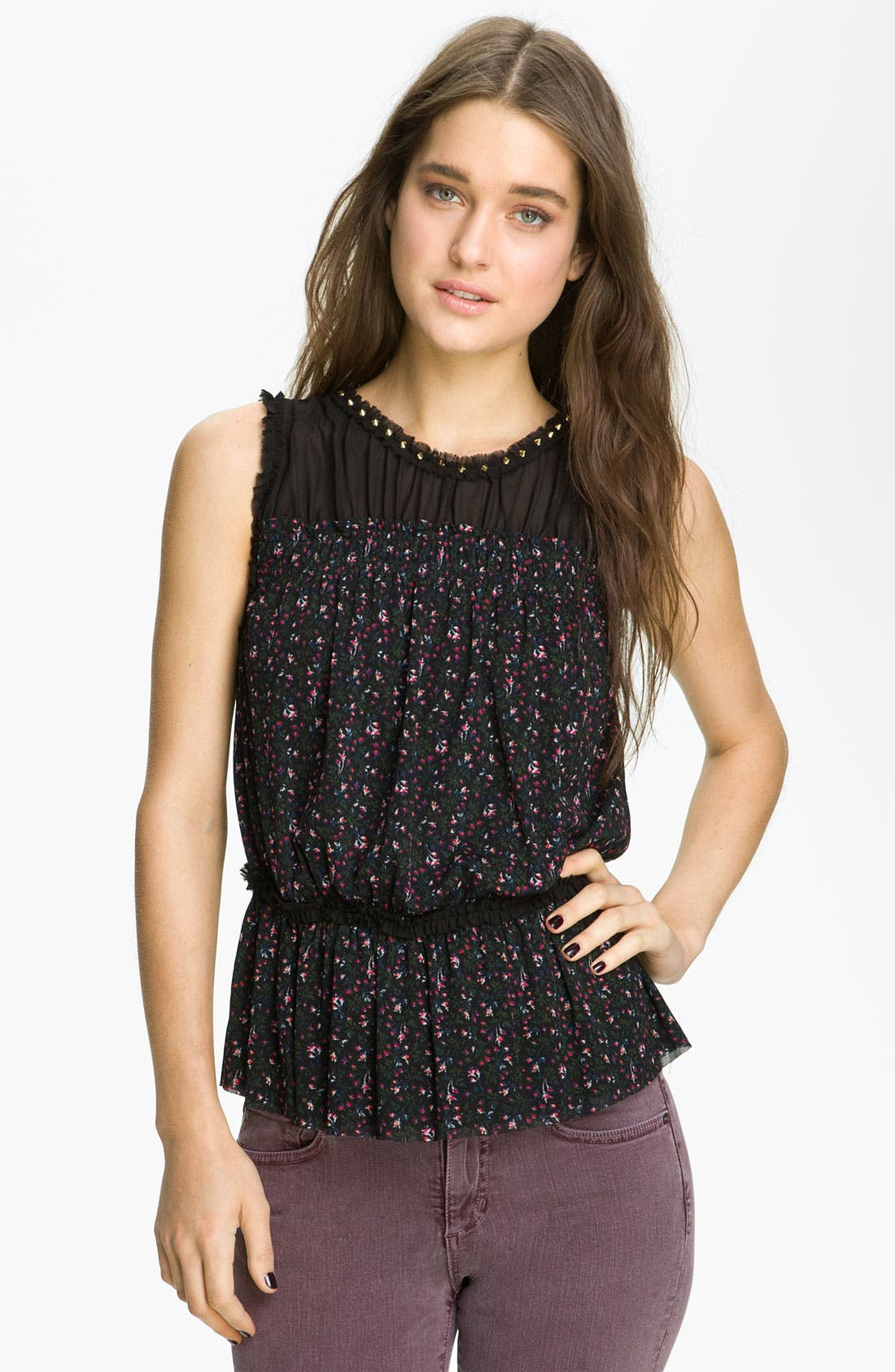 Alternate Image 1 Selected - Juicy Couture Print Sleeveless Top