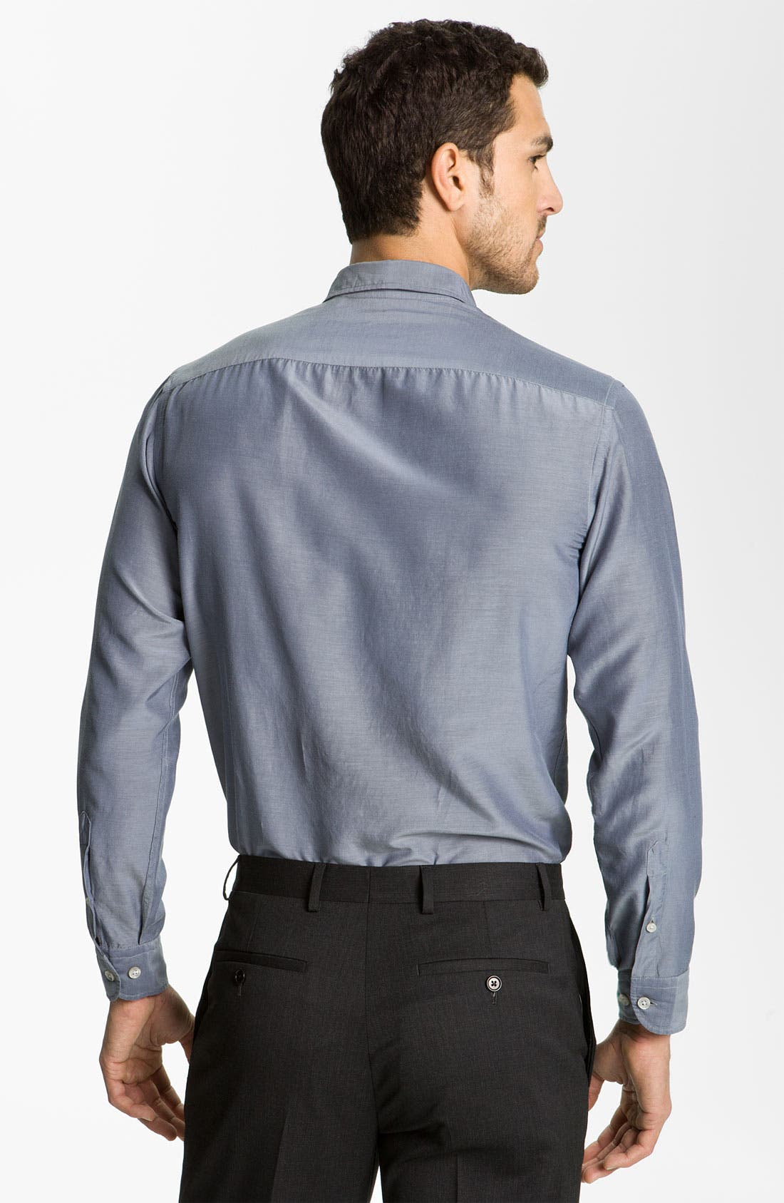 Alternate Image 2  - Armani Collezioni Chambray Dress Shirt