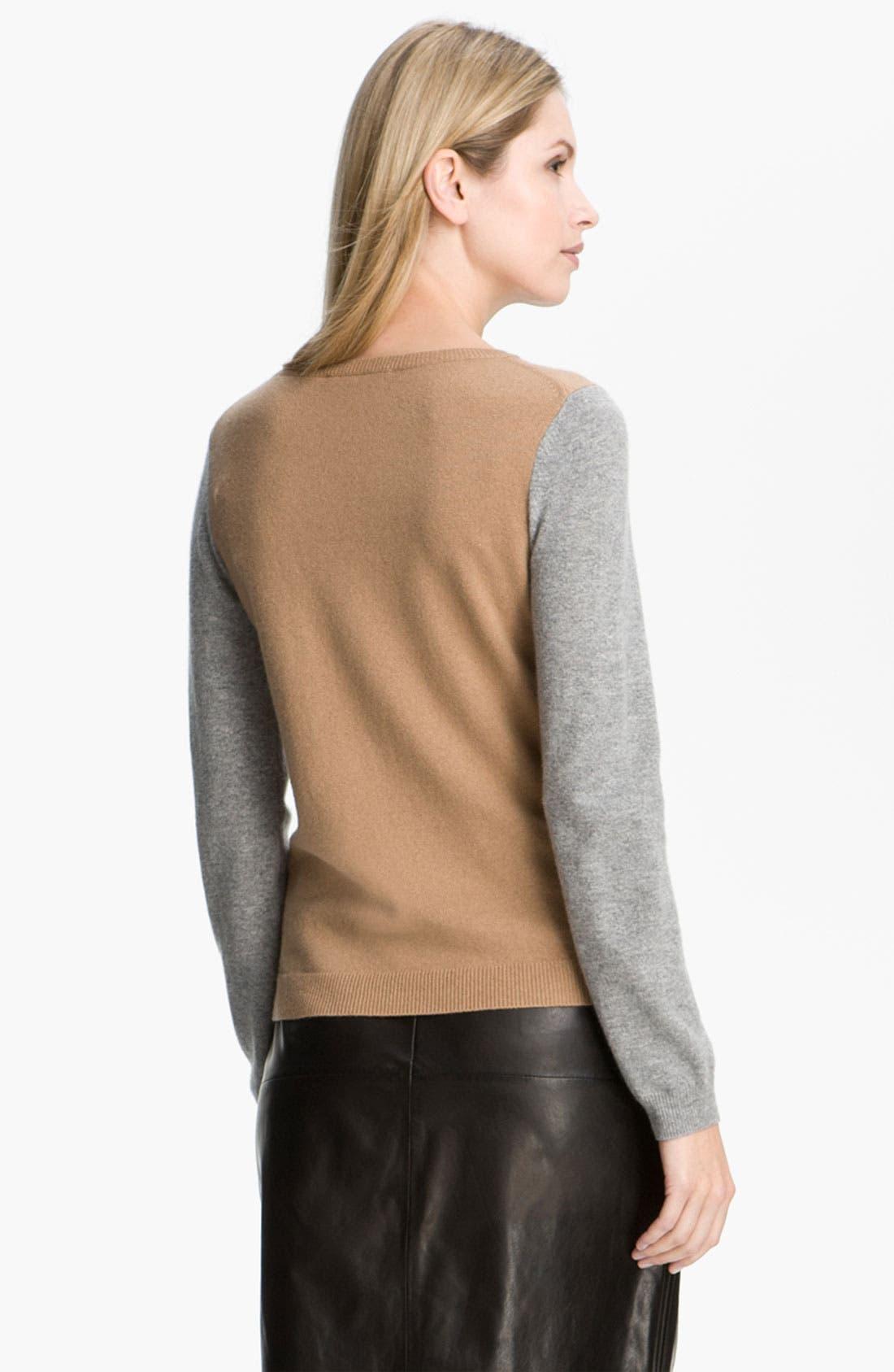Alternate Image 2  - BOSS Black Colorblock Cashmere Sweater