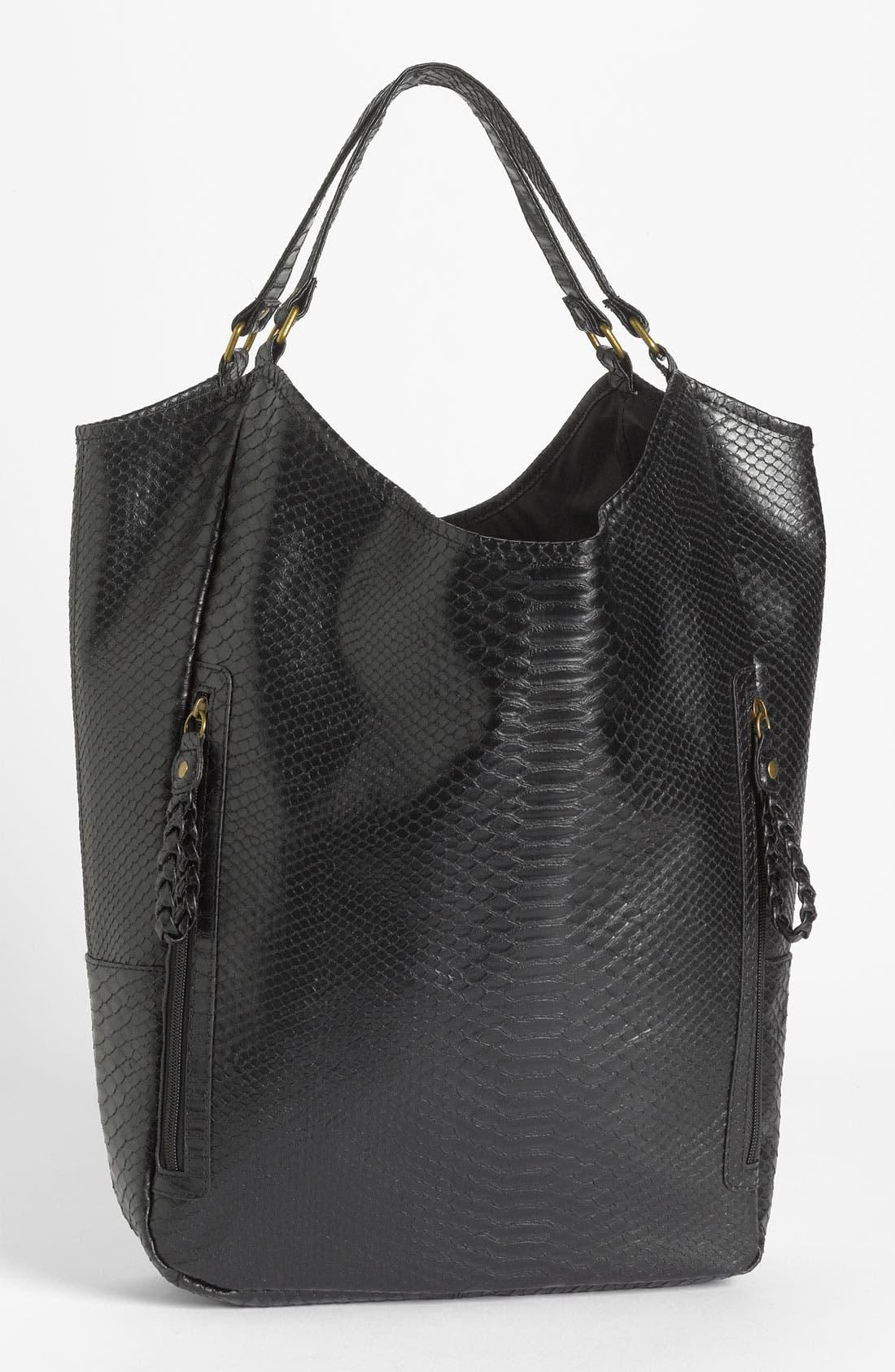 Alternate Image 1 Selected - Lulu Snake Embossed Tote Bag