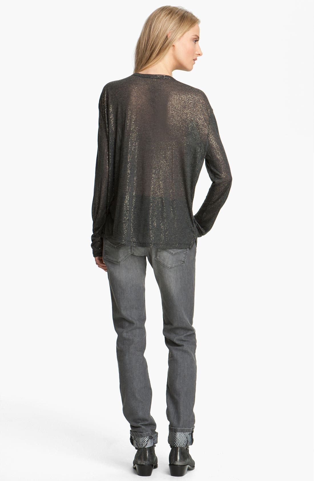 Alternate Image 2  - Zadig & Voltaire 'Axy' Metallic Tee