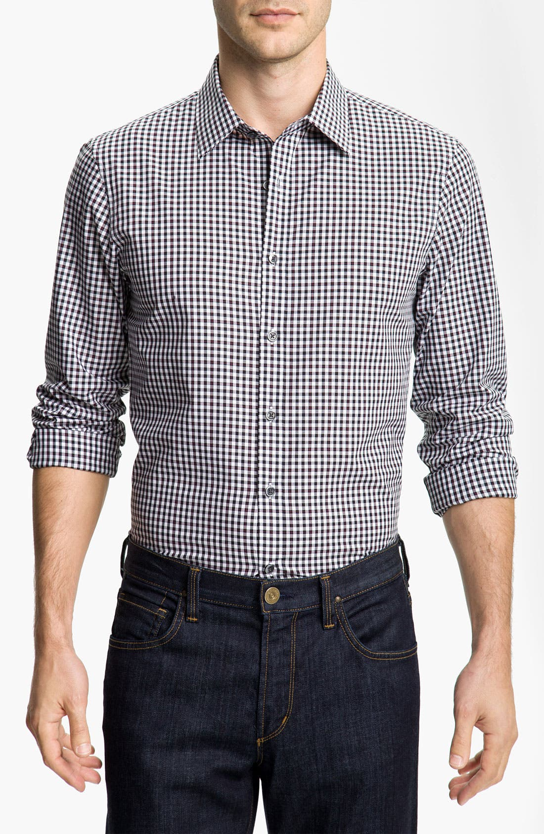 Alternate Image 1 Selected - Michael Kors 'Fairfax Check' Sport Shirt