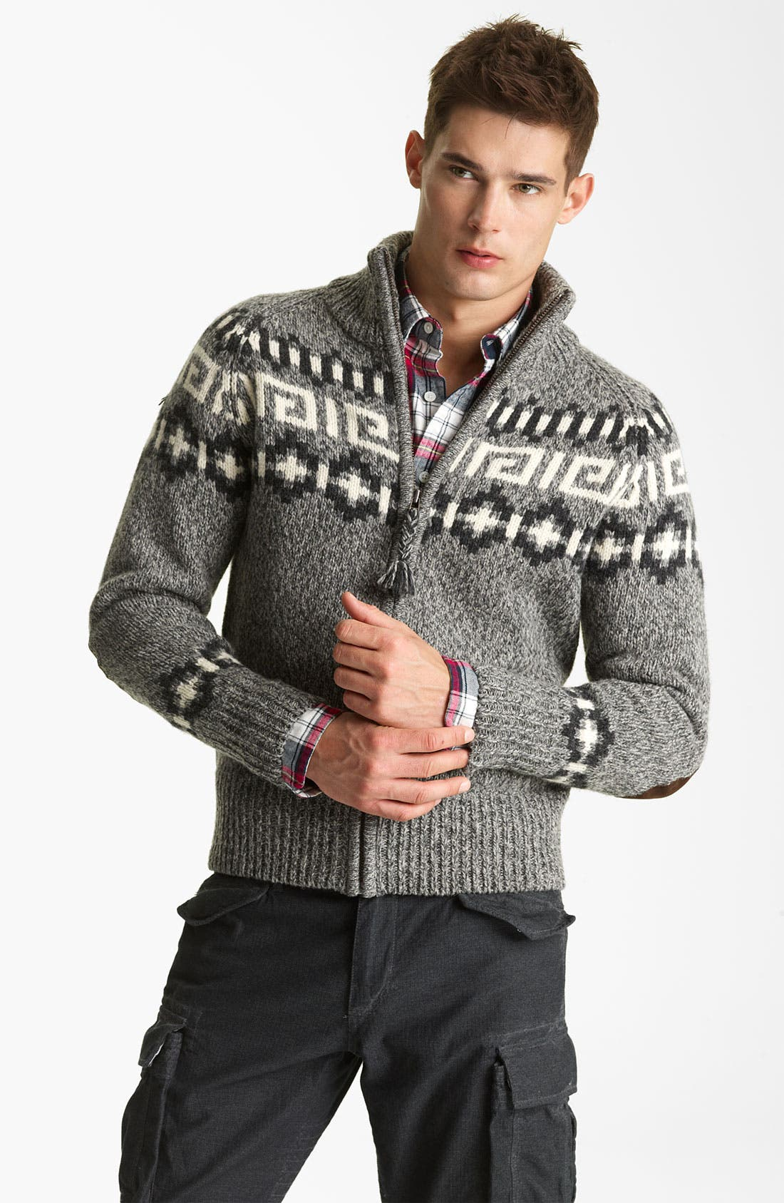 Alternate Image 1 Selected - Gant by Michael Bastian Wool Zip Sweater