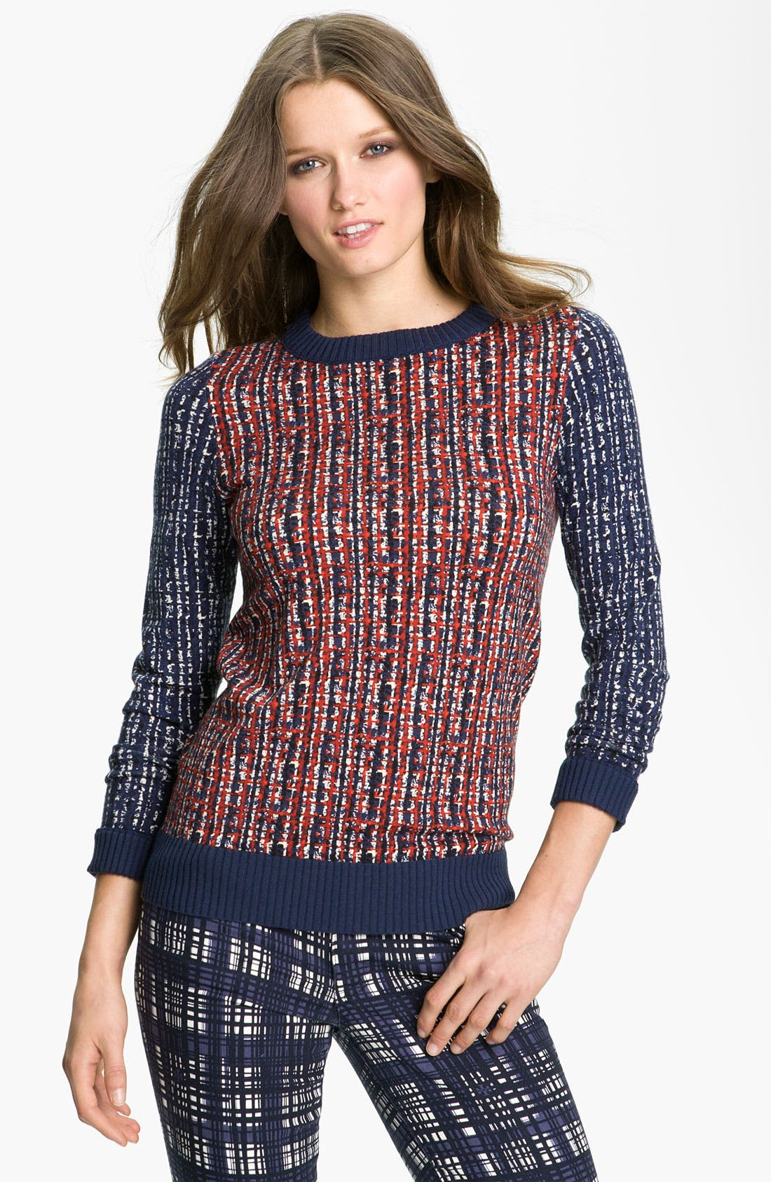 Alternate Image 1 Selected - Tory Burch 'Hutton' Crewneck Sweater