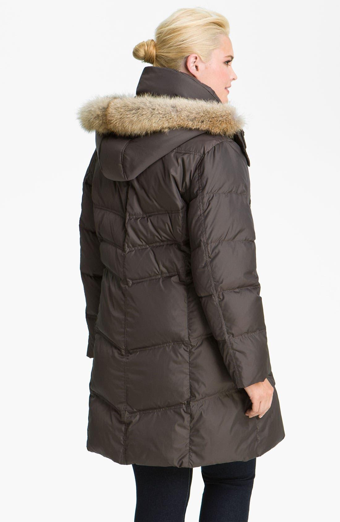 Alternate Image 2  - Marc New York by Andrew Marc 'Mercy' Genuine Coyote Fur Trim Coat (Plus)