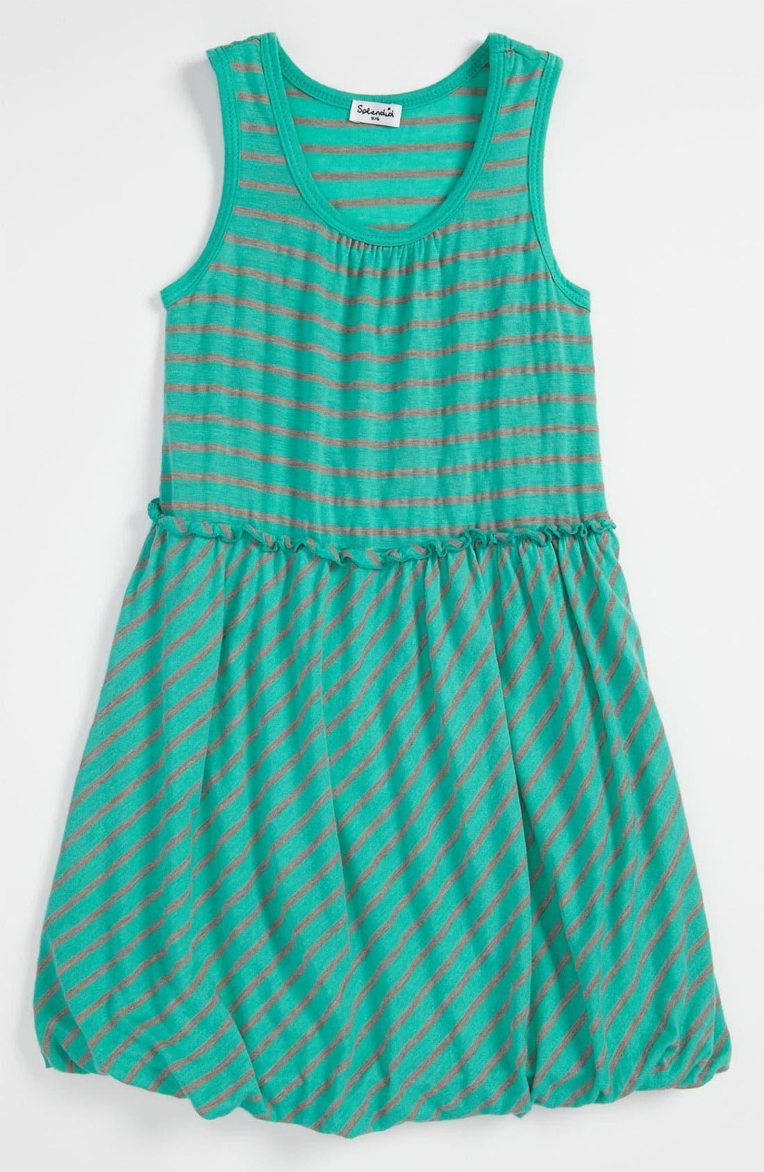 Alternate Image 1 Selected - Splendid 'Nutmeg' Stripe Bubble Dress (Little Girls)