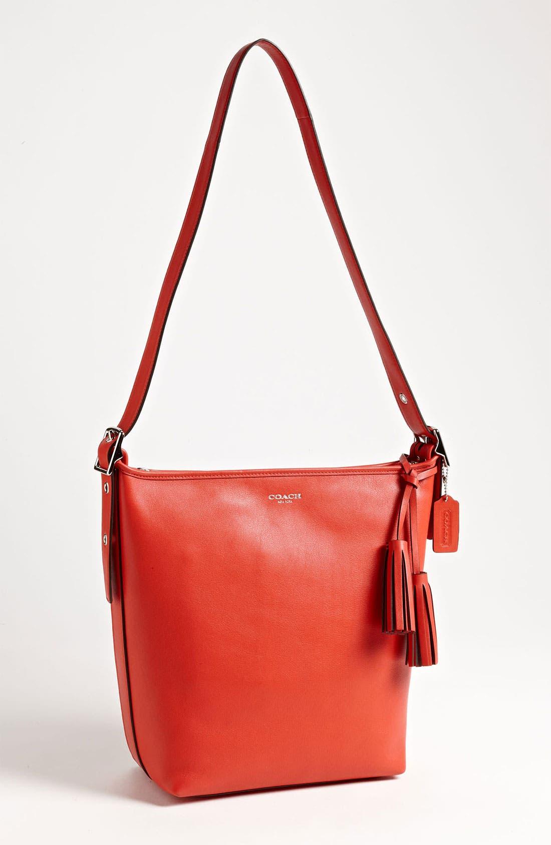 Alternate Image 1 Selected - COACH 'Legacy - Duffle' Tasseled Leather Shoulder Bag