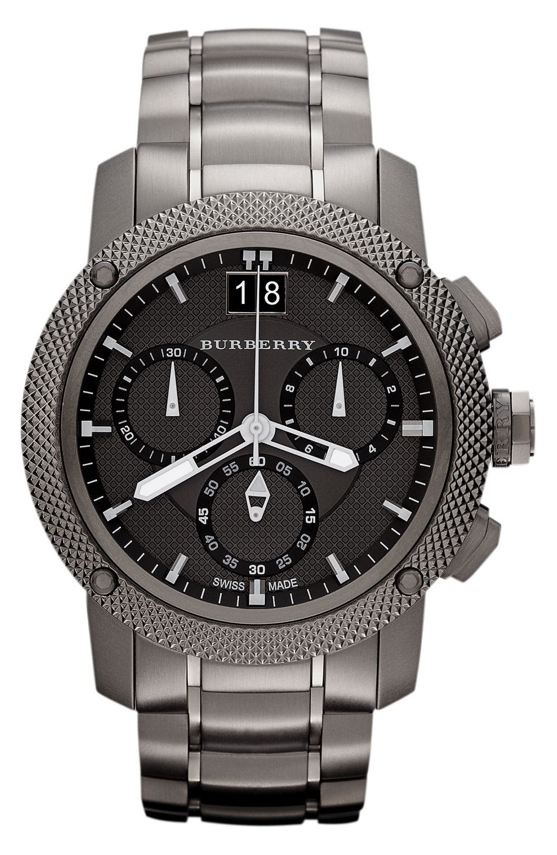 Alternate Image 1 Selected - Burberry Chronograph Bracelet Watch, 46mm
