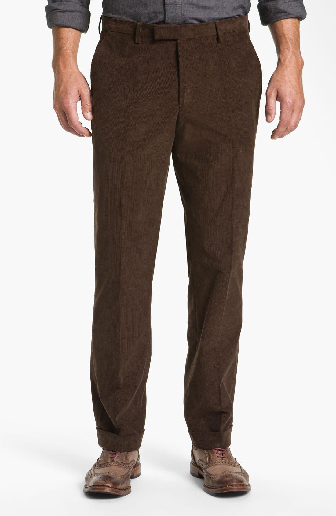 Alternate Image 1 Selected - BOSS Black 'Sharp' Corduroy Trousers