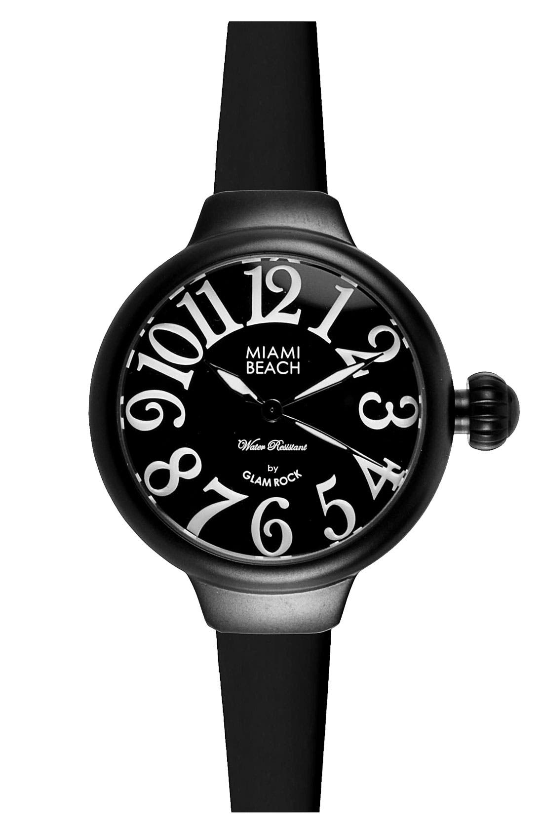 Main Image - Miami Beach by Glam Rock Round Silicone Strap Watch
