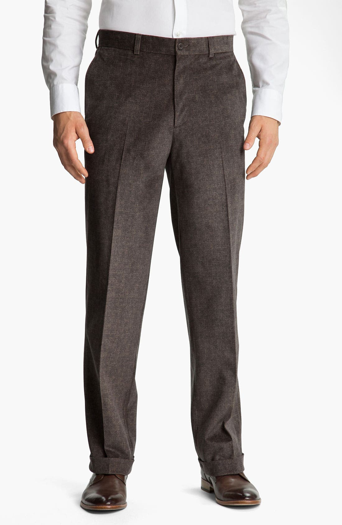 Alternate Image 1 Selected - Linea Naturale 'Abstract Micro-Aire' Corduroy Trousers