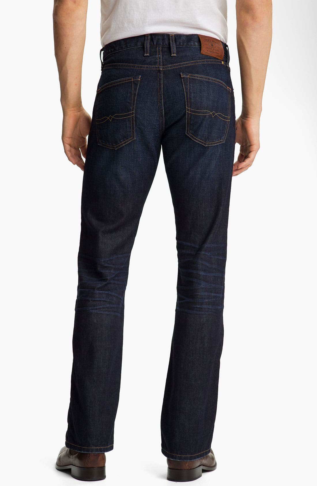 Alternate Image 2  - Lucky Brand '361' Vintage Straight Leg Jeans (Dark Harpeth)