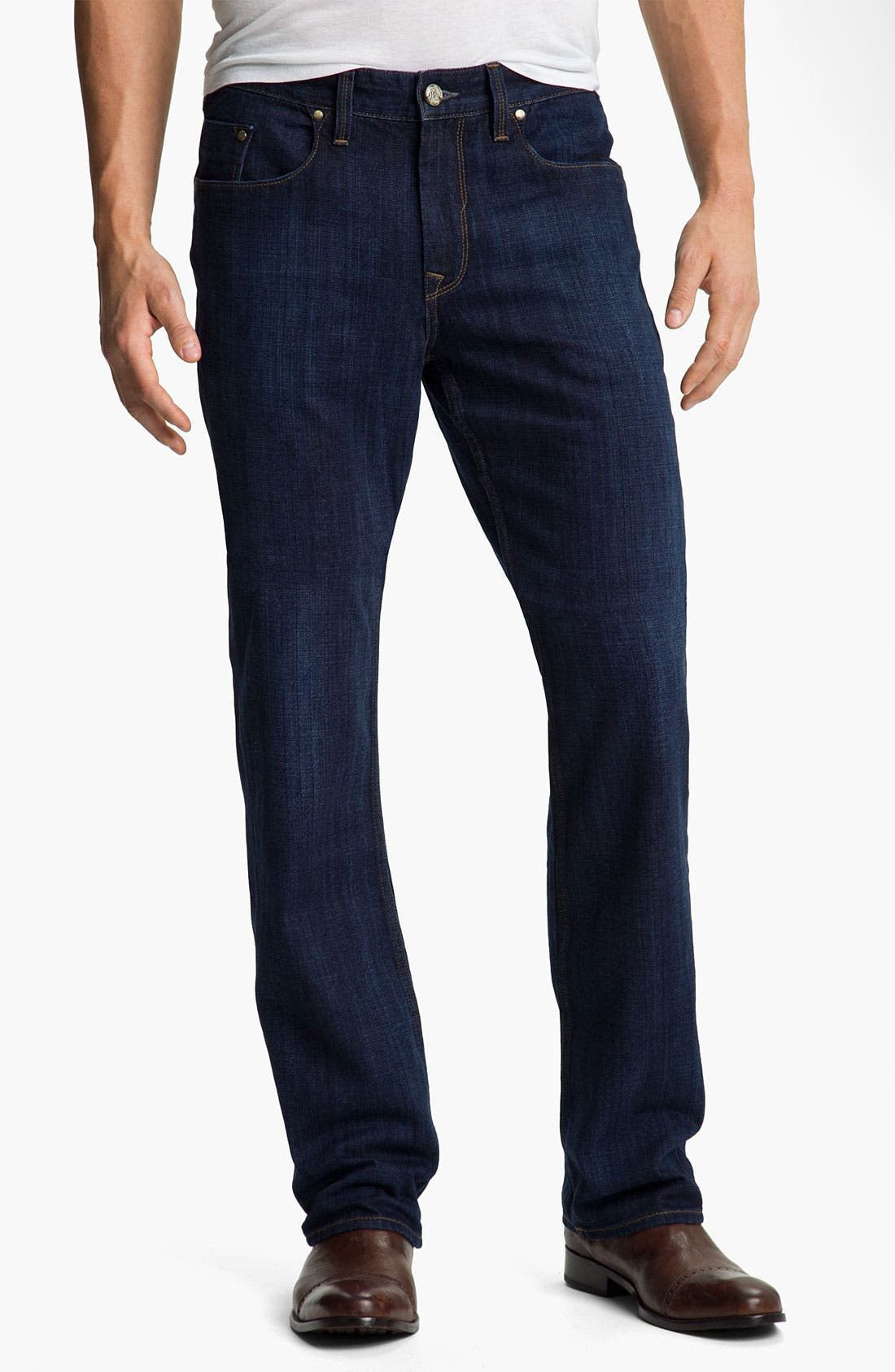 Alternate Image 1 Selected - Robert Graham Jeans 'Simply Blue' Straight Leg Jeans (Indigo)