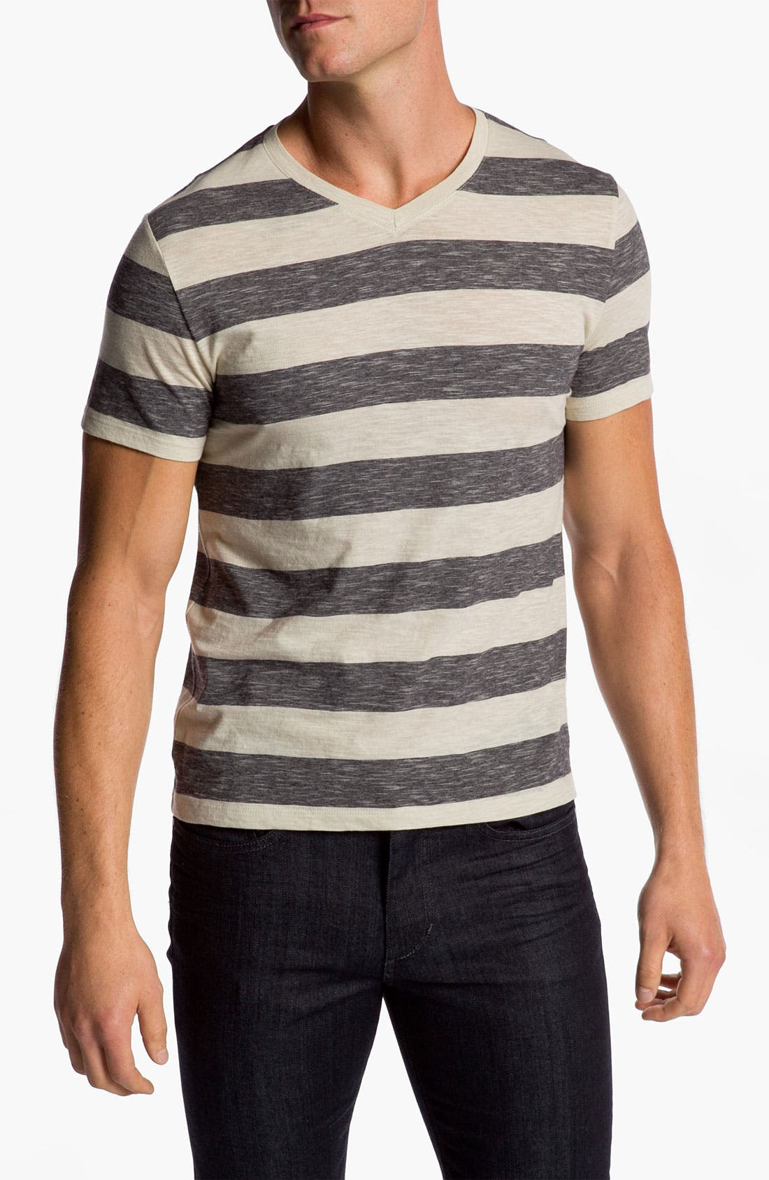 Alternate Image 1 Selected - Vince Stripe V-Neck T-Shirt