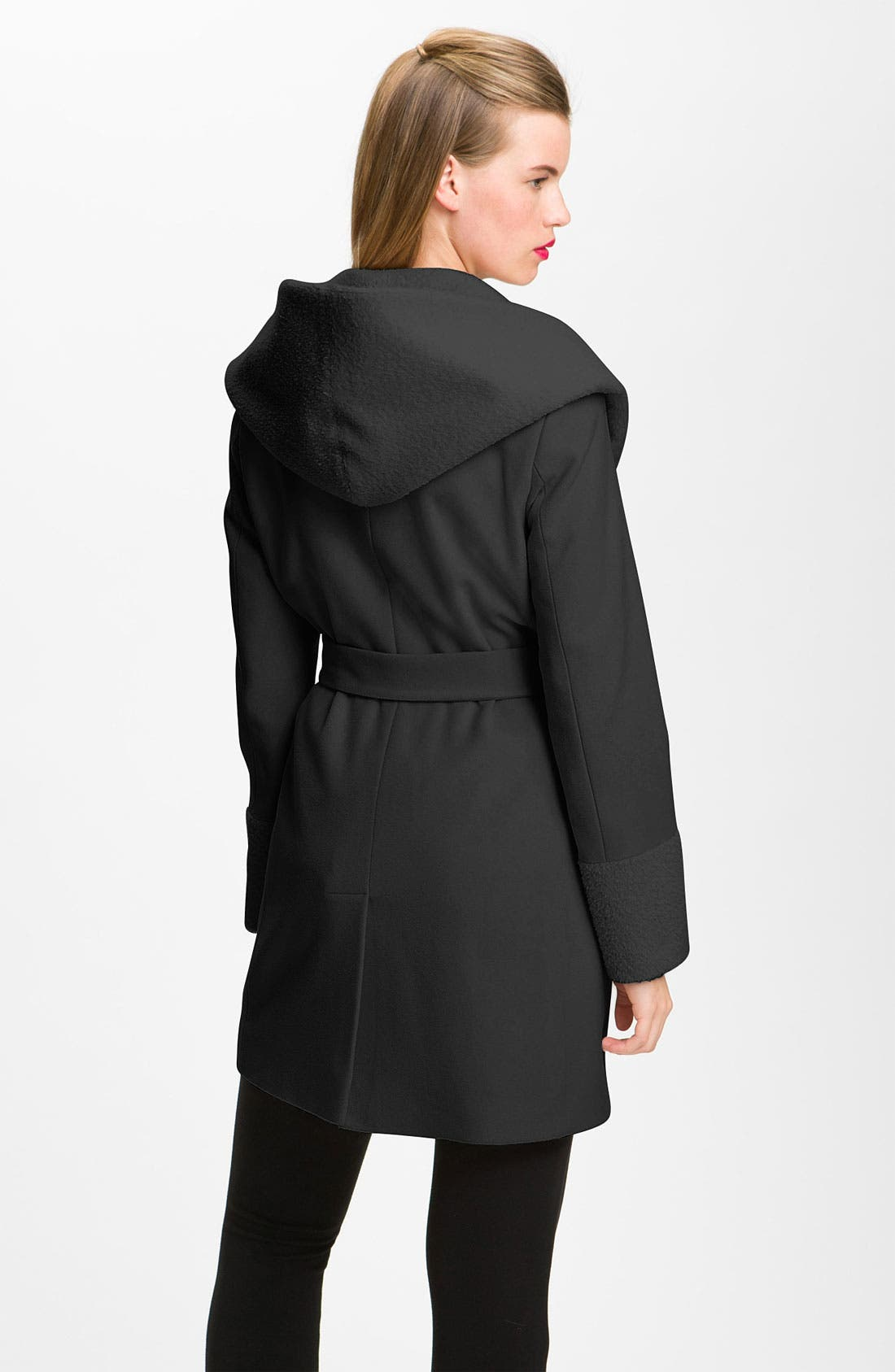 Alternate Image 2  - Trina Turk Wool & Alpaca Blend Wrap Coat (Online Exclusive)