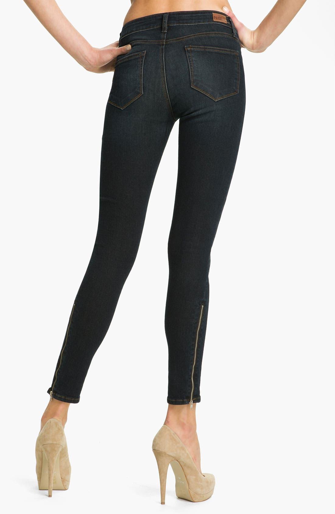 Alternate Image 2  - Paige Denim 'Eve' Skinny Ankle Zip Skinny Jeans (Fairbanks)