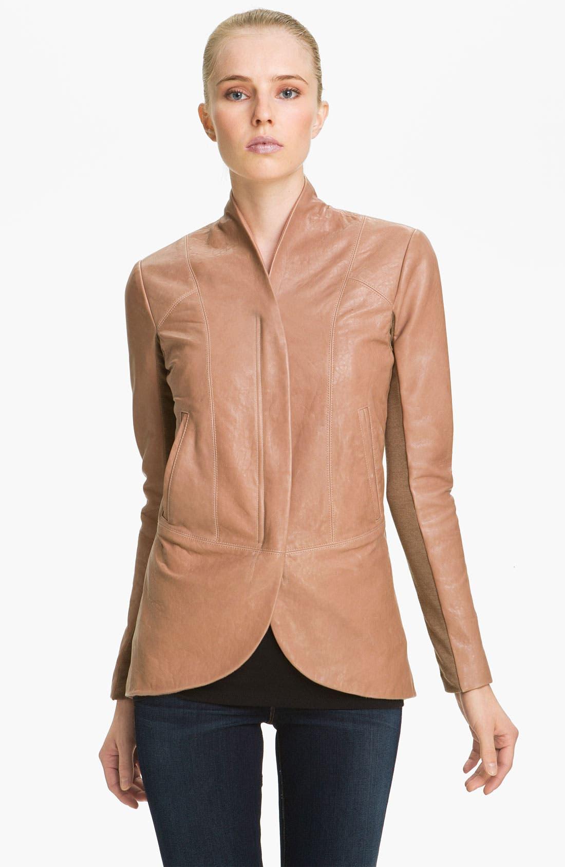 Main Image - Veda Shawl Collar Leather Jacket