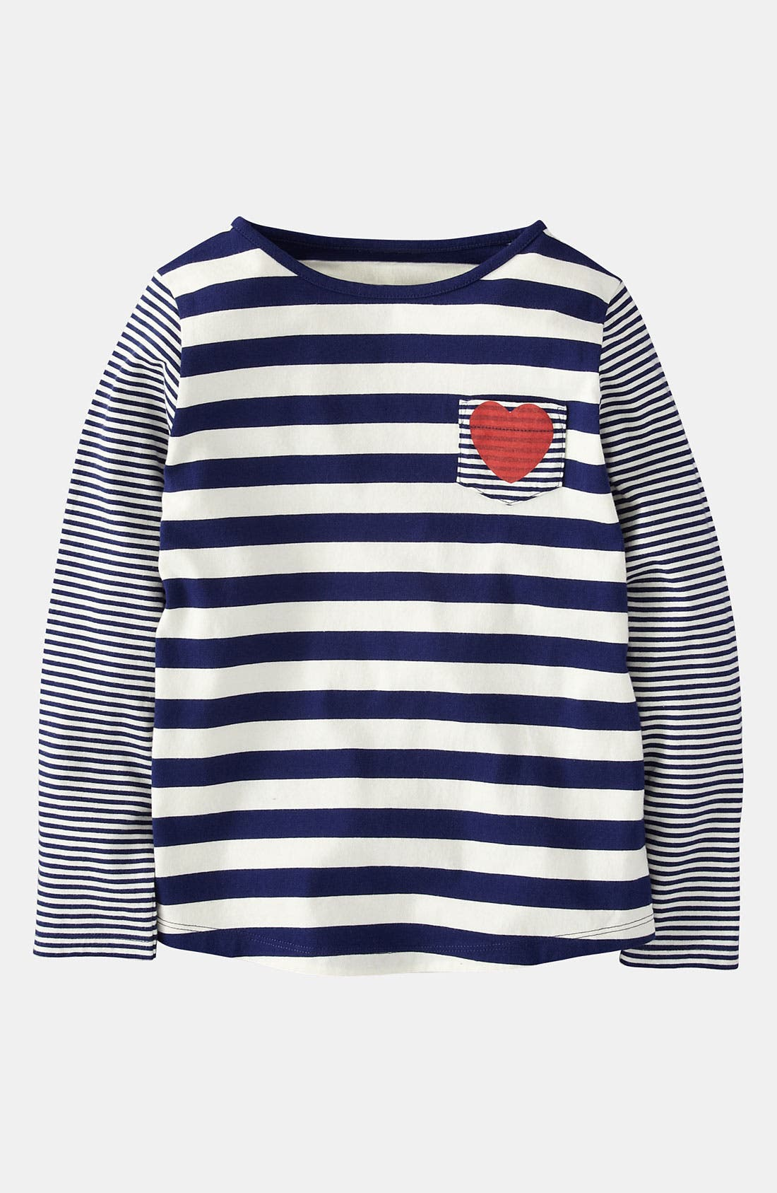 Alternate Image 1 Selected - Mini Boden 'Hotchpotch' Stripe Top (Little Girls & Big Girls)