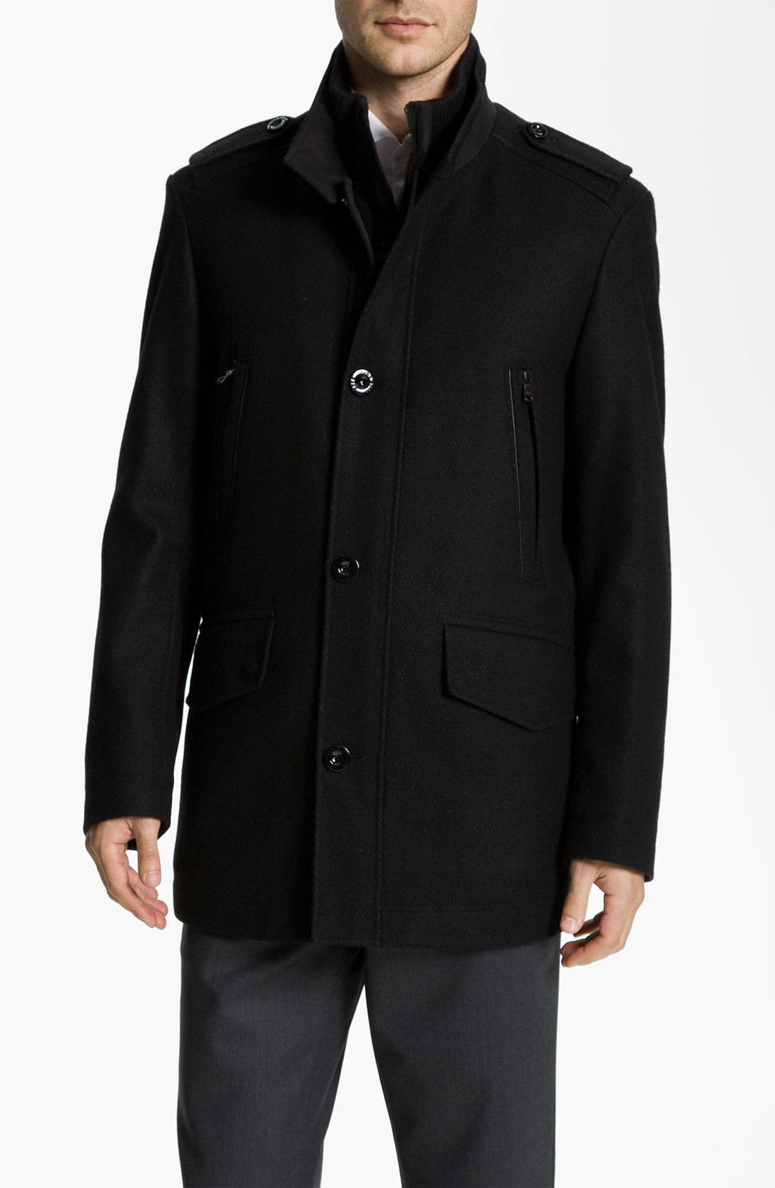 Alternate Image 1 Selected - BOSS Black 'Cossum' Coat