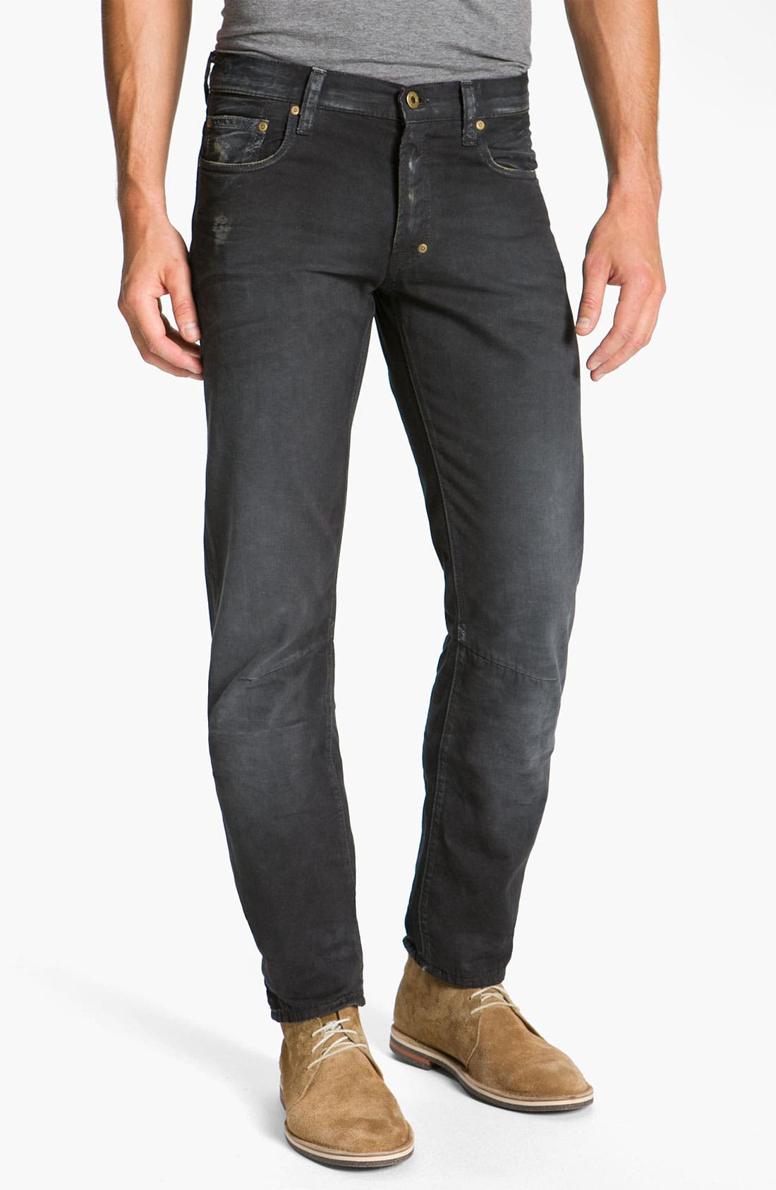 Alternate Image 2  - PRPS 'Rambler' Slim Straight Leg Jeans (Black)