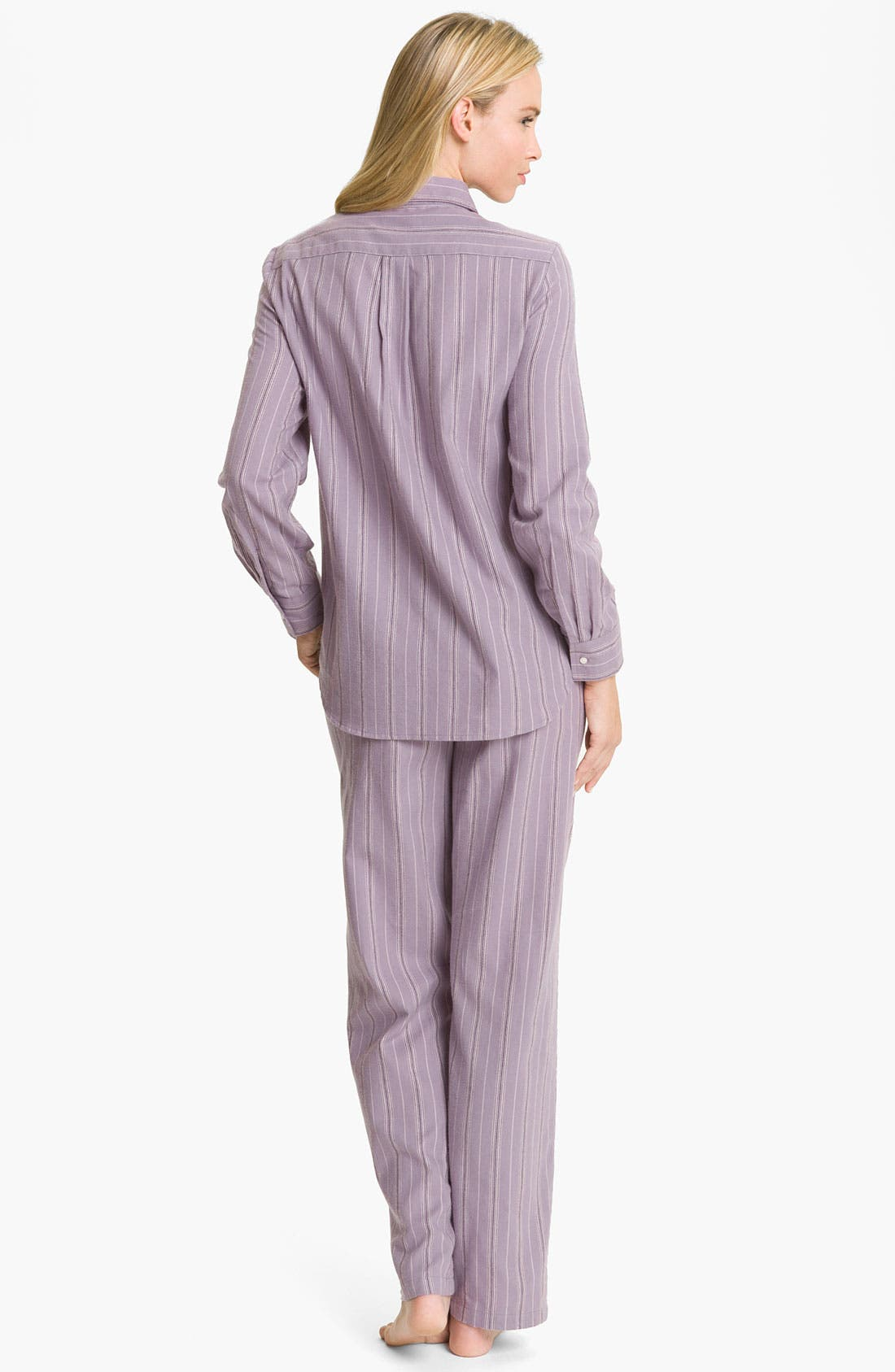 Alternate Image 2  - Lauren Ralph Lauren Sleepwear Brushed Twill Pajamas