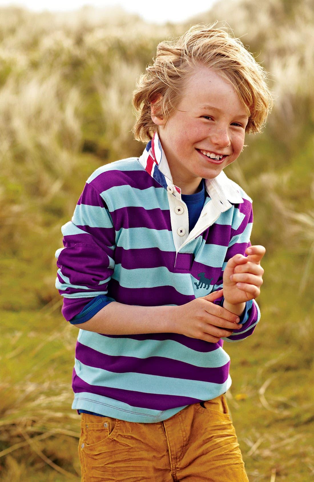 Alternate Image 2  - Mini Boden Rugby Shirt (Toddler)