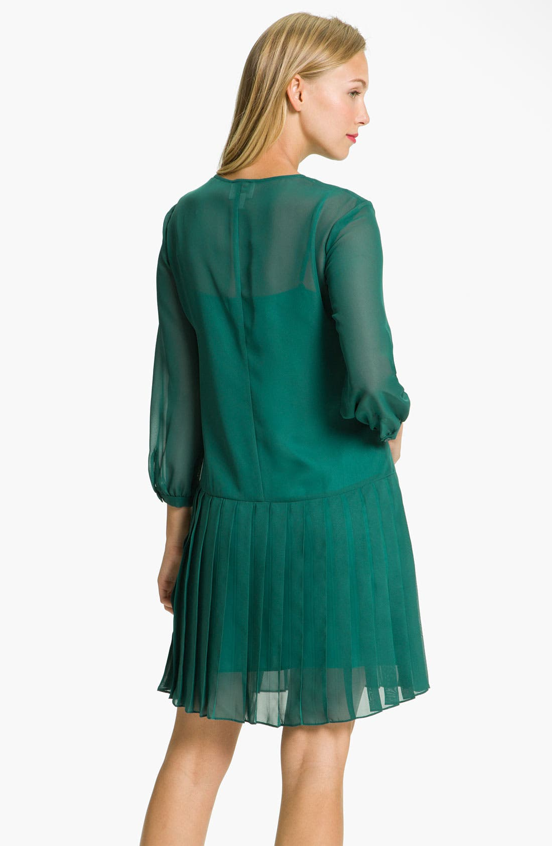 Alternate Image 2  - Donna Morgan Drop Waist Chiffon Blouson Dress