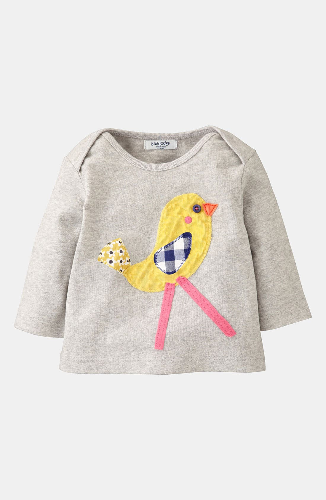 Alternate Image 1 Selected - Mini Boden 'Animal' Appliqué Tee (Infant)