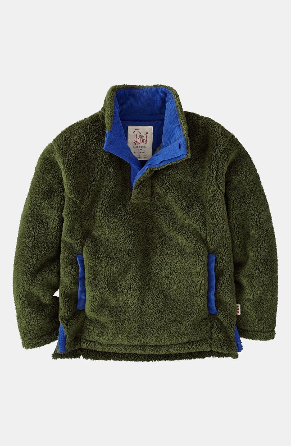 Alternate Image 1 Selected - Mini Boden Half Placket Fleece Jacket (Toddler)