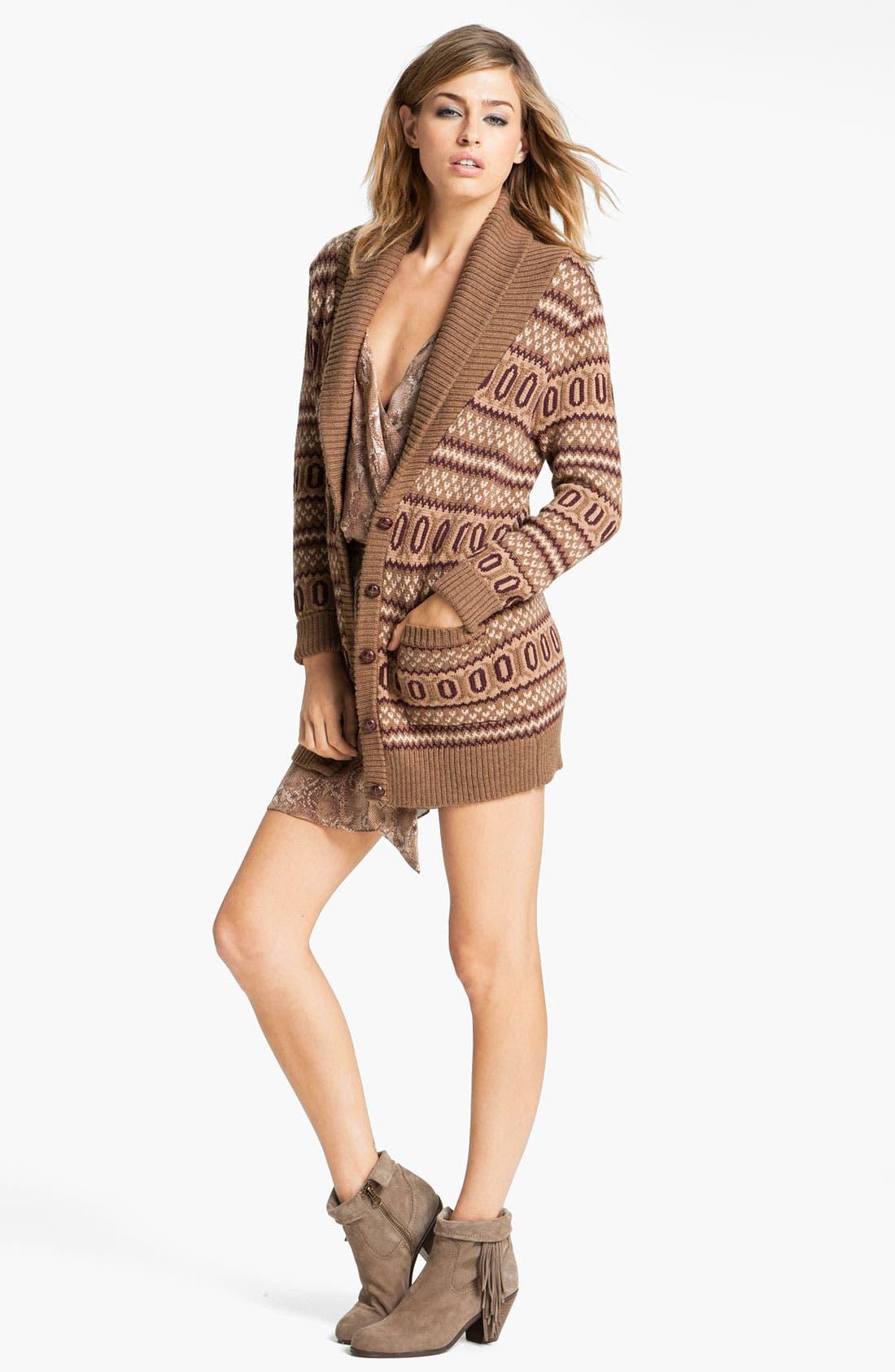 Alternate Image 4  - Haute Hippie Intarsia Merino Wool Cardigan