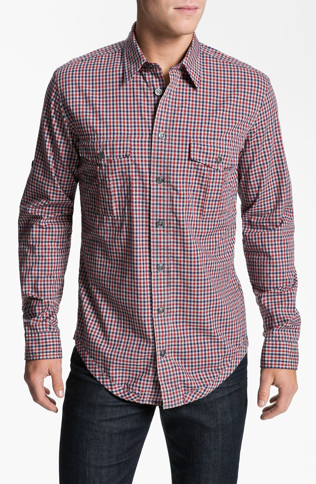Alternate Image 1 Selected - BOSS Orange 'Ezzeronee' Check Woven Shirt
