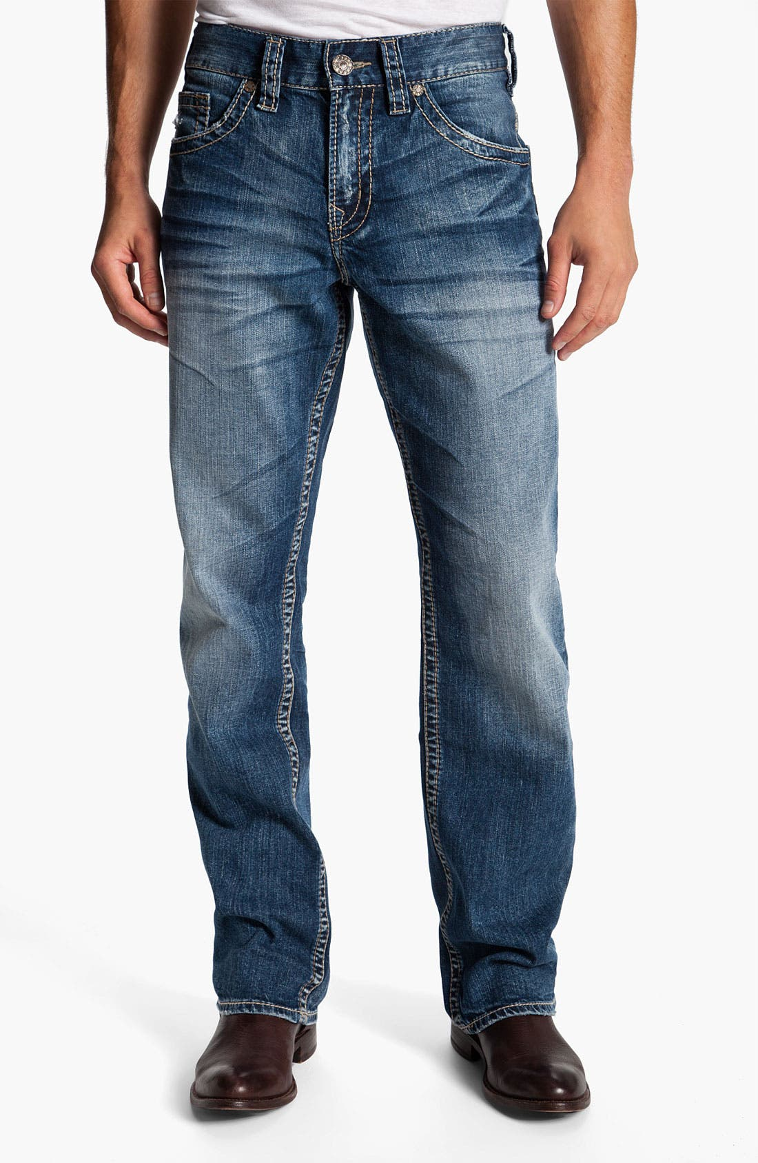 Alternate Image 2  - Silver Jeans Co. 'Gordie' Relaxed Straight Leg Jeans