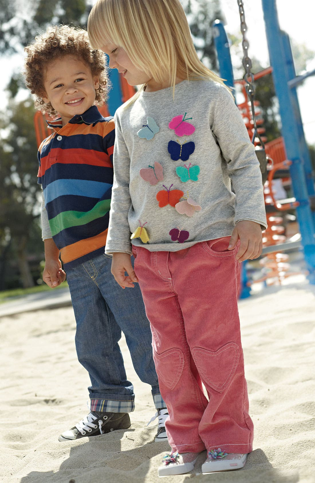Alternate Image 2  - Mini Boden Layered Sleeve Polo (Toddler)