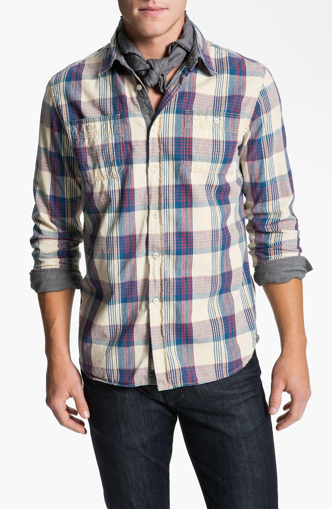 Alternate Image 4  - Just A Cheap Shirt Plaid Woven Shirt