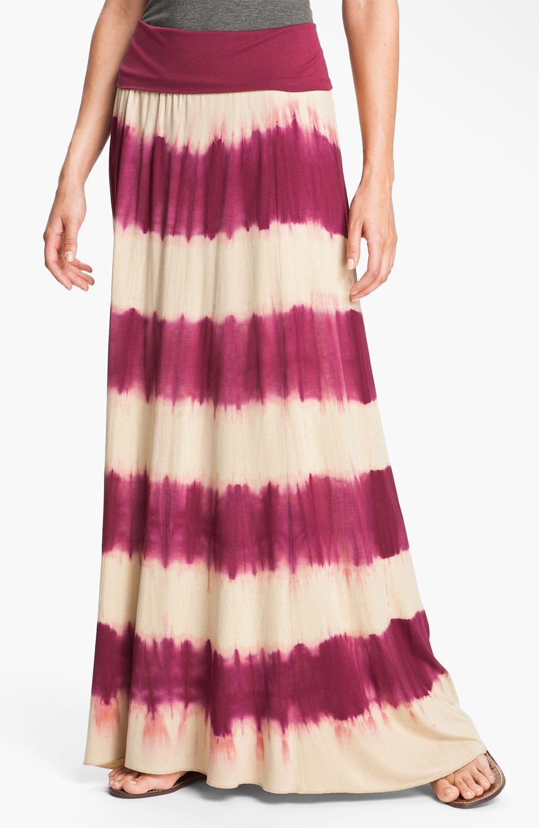 Main Image - Max & Mia Tie Dye Maxi Skirt