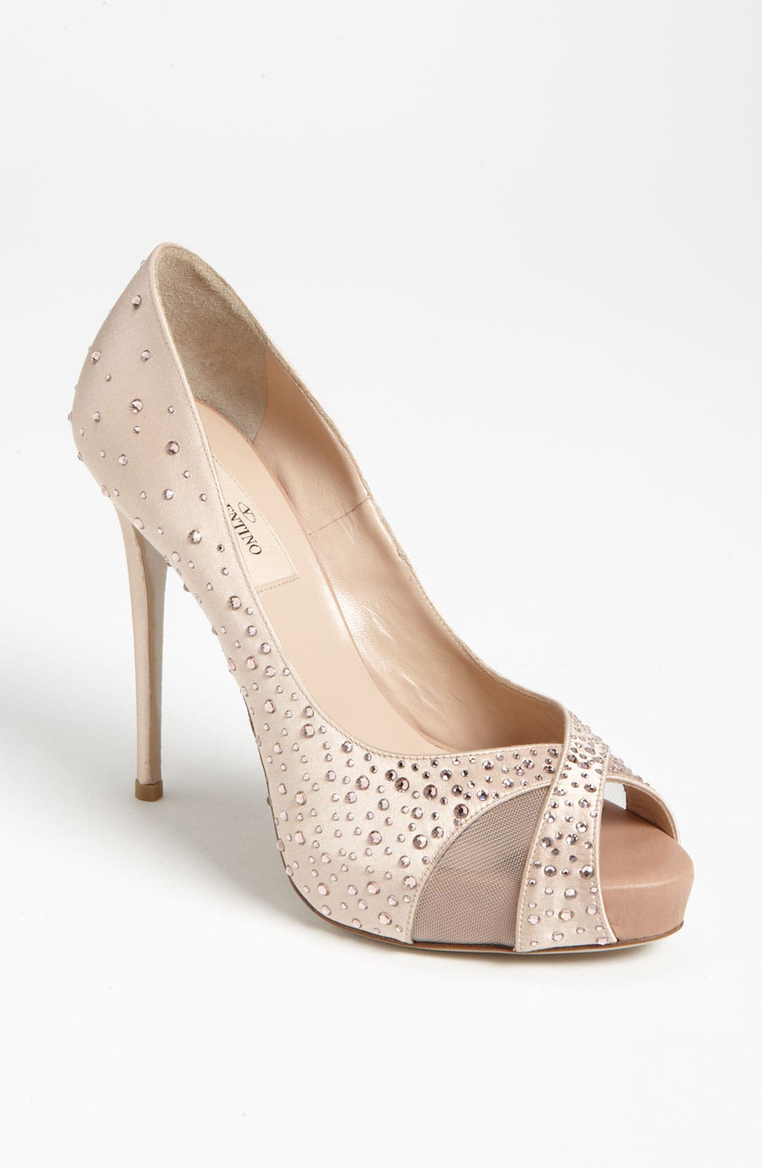 Alternate Image 1 Selected - Valentino 'Sparkle' Open Toe Pump