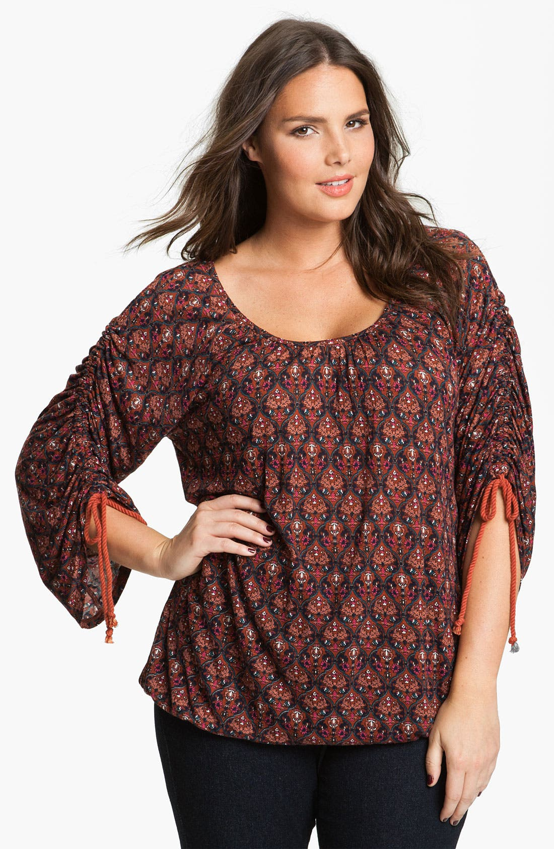 Main Image - Lucky Brand 'Wallpaper Arches Brianne' Top (Plus)