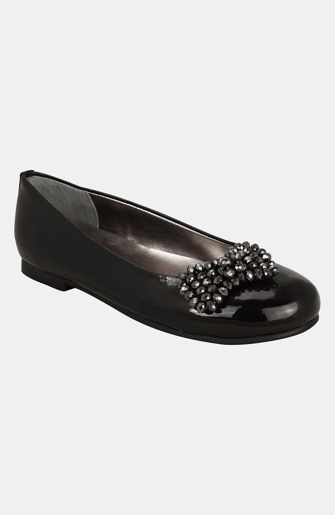 Alternate Image 1 Selected - Nina 'Daley' Studded Bow Flat (Little Kid & Big Kid)