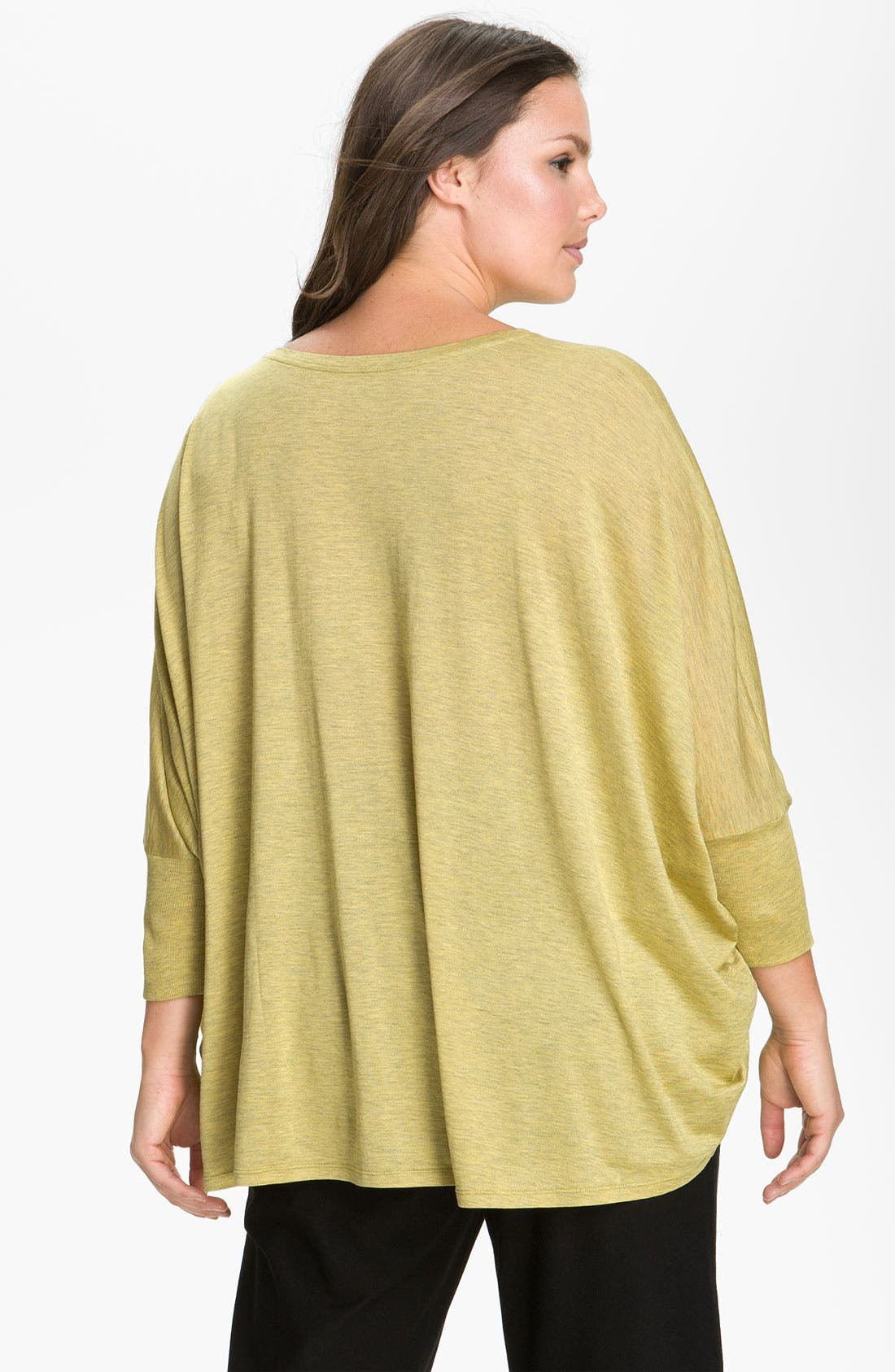 Alternate Image 2  - Eileen Fisher Boxy Dolman Sleeve Top (Plus)