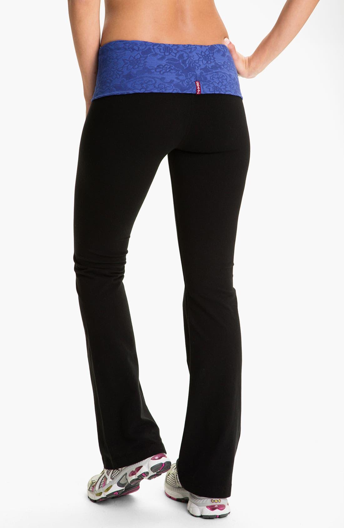Alternate Image 2  - Hard Tail Roll Waist Flare Leg Pants