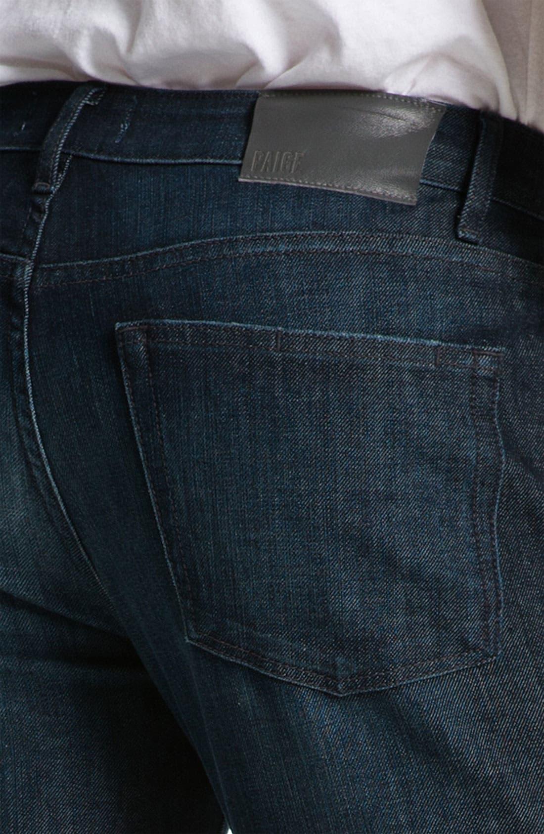 Alternate Image 4  - PAIGE 'Normandie' Slim Straight Leg Jeans (Warrior)