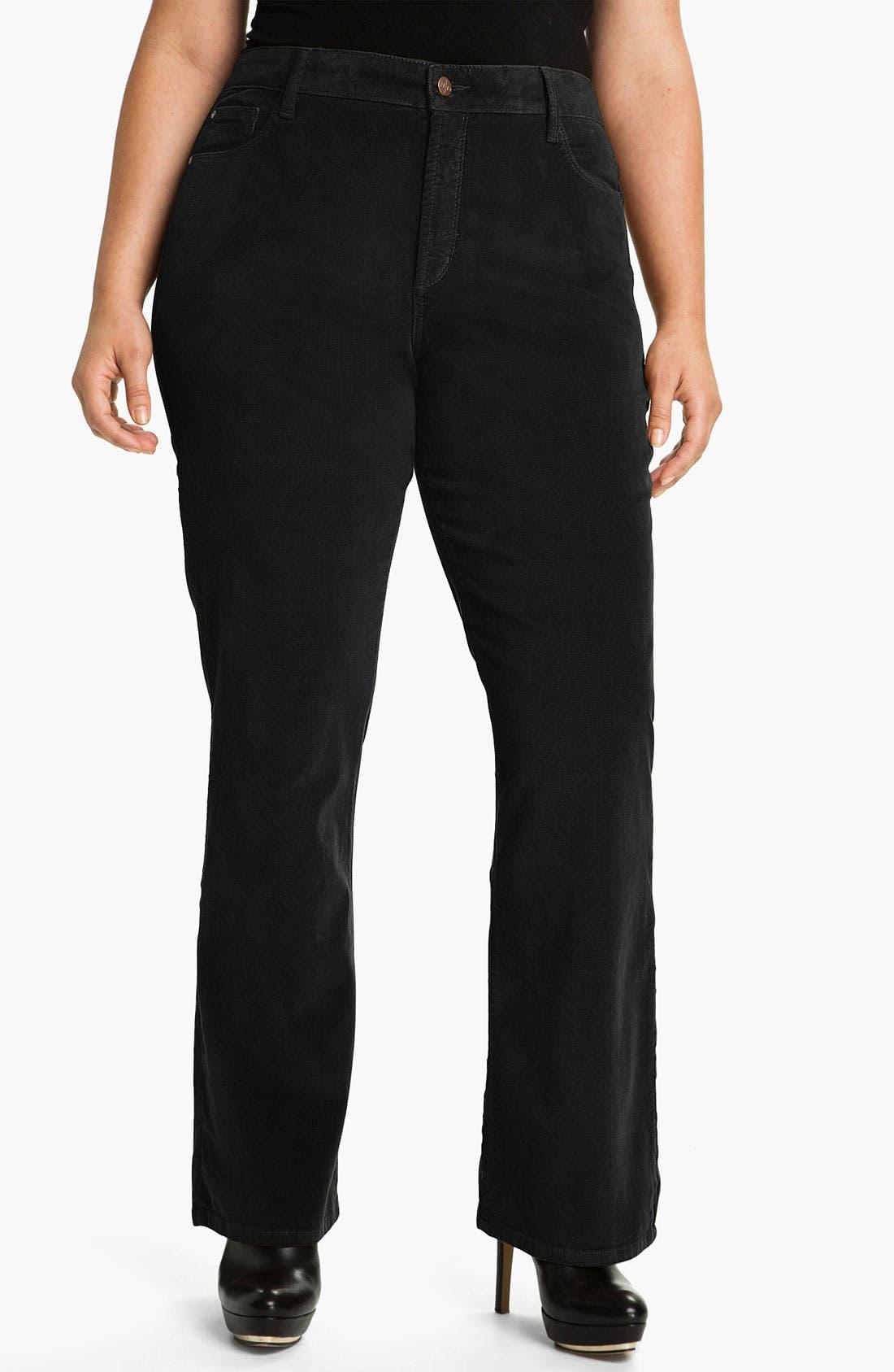 Alternate Image 1 Selected - NYDJ 'Barbara' Bootcut Corduroy Pants (Plus)