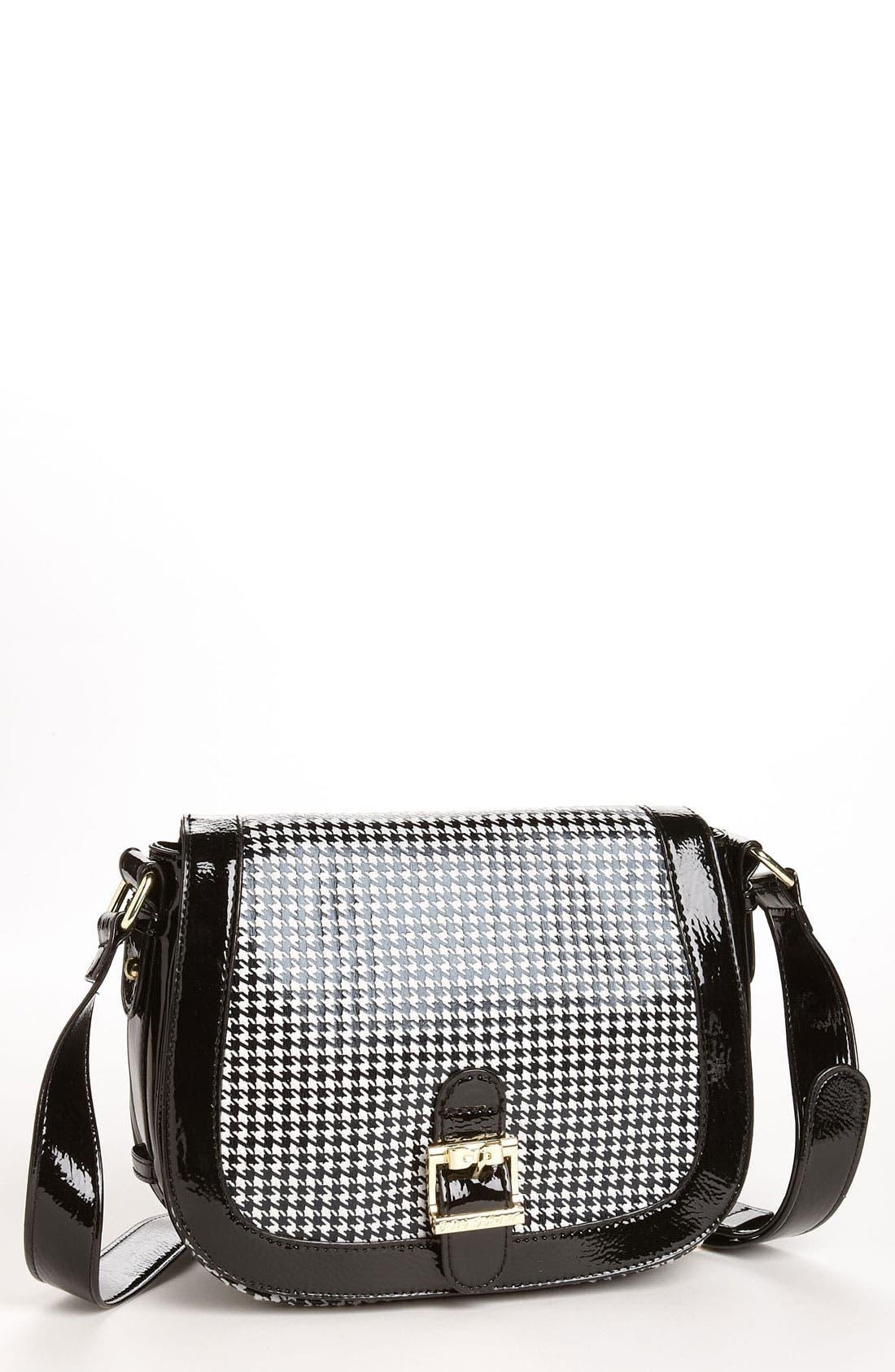 Main Image - Betsey Johnson Houndstooth Crossbody Bag