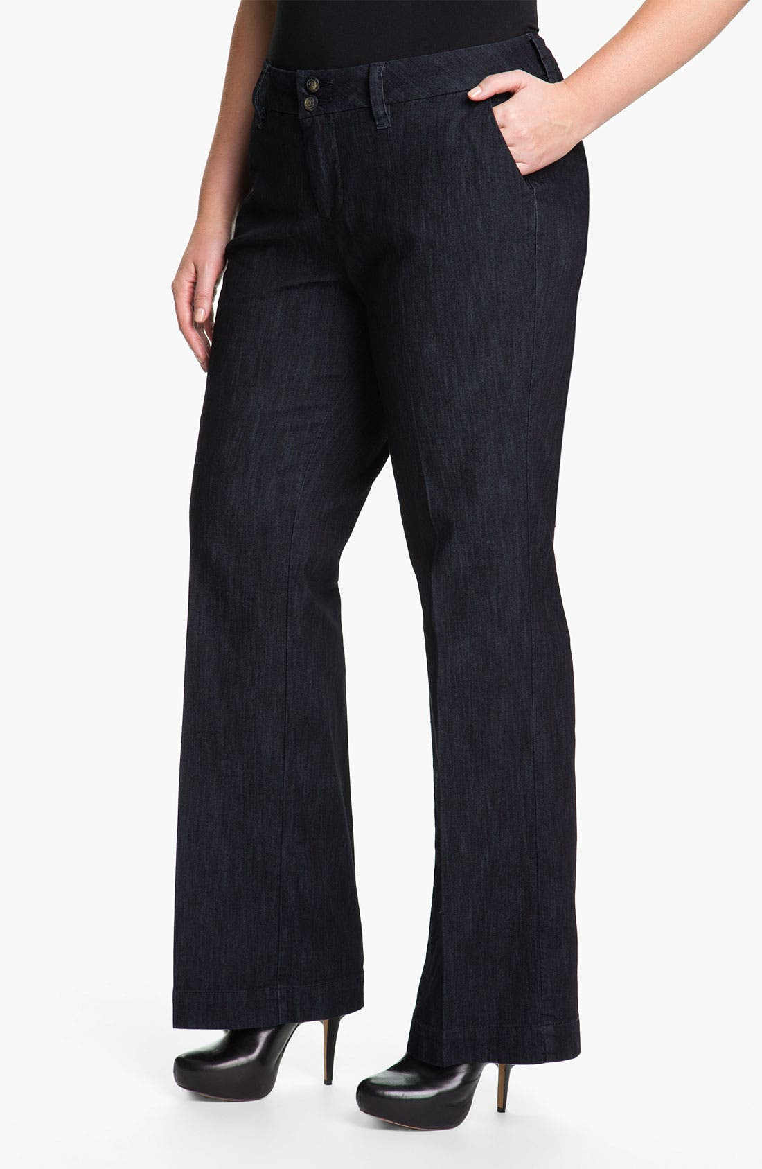 Alternate Image 1 Selected - Jag Jeans 'Pearl' Trouser Jeans (Plus Size)